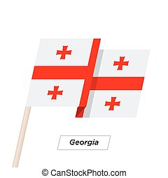Georgia Ribbon Waving Flag Isolated on White. Vector...