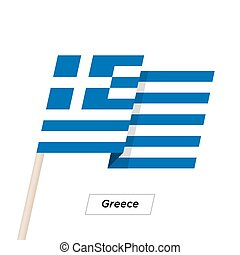 Greece Ribbon Waving Flag Isolated on White. Vector...
