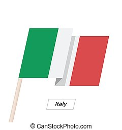 Italy Ribbon Waving Flag Isolated on White. Vector...