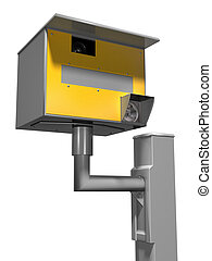 Speed camera - Isolated illustration of a road safety speed...