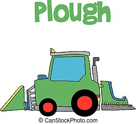 Hand draw of plough vector collection stock