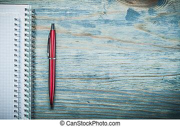 escritório, espaço, madeira, note-books, caneta, Conc,...