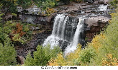 Blackwater Falls Autumn Loop - Blackwater Falls, a waterfall...