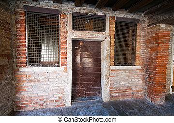 Italy, Venice. Jewish Ghetto district. Banco Rosso - The...