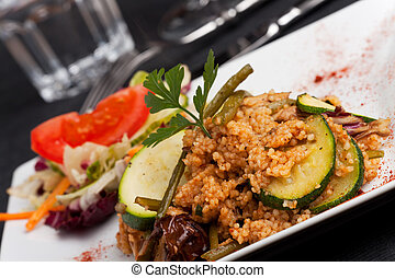 couscous dish with vegetables