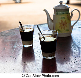 Laotian coffee, Laos - Laotian coffe, a mix of coffee with...