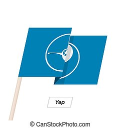 Yap Ribbon Waving Flag Isolated on White. Vector...