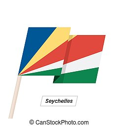 Seychelles Ribbon Waving Flag Isolated on White. Vector...