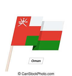 Oman Ribbon Waving Flag Isolated on White. Vector...