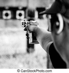 shooting target on training