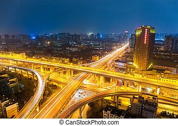 都市, 交換, 夜