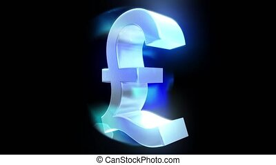 Pound sign symbol rotate loop business finance tax england britain brexit