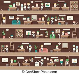 Seamless Office Concept Coworking Space People Management -...