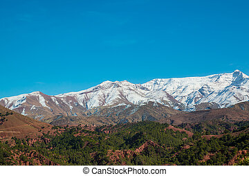 View the Atlas mountains of Morocco