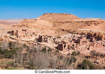 traditionnel, Berbère, ville, maroc