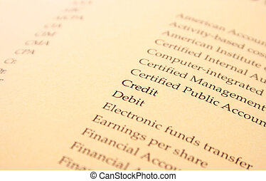 Banking - Finance and banking document, yellow paper