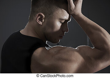 Hard work to achieve such muscles