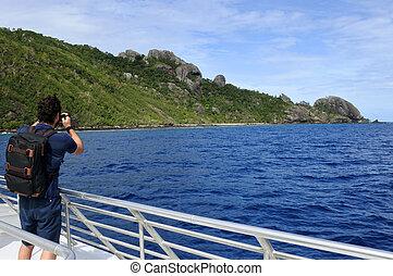 fotografo, viaggiare, tropicale, isola, Fotografare,...