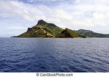 Yasawa, wasserlandschaft, Eins, Inseln, Fidschi, landschaftsbild