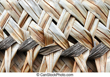 Coconut Palm leaves weaving background and texture.