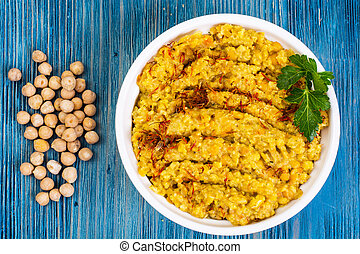 Chickpea dish traditional Middle Eastern cuisine