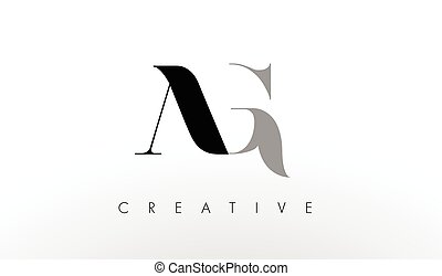 A G Letter Logo Design. Creative AG Letters Icon - A G...