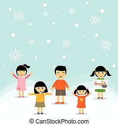 Cute children. Vector Illustration