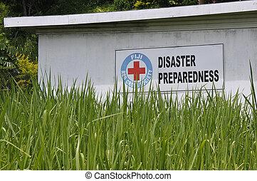preparazione, Figi, croce, rosso, disastro