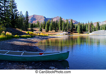 Turquoise lake - Scenic Turquoise lake recreation area in...