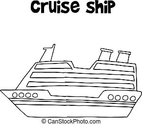 Cruise ship of transportation collection