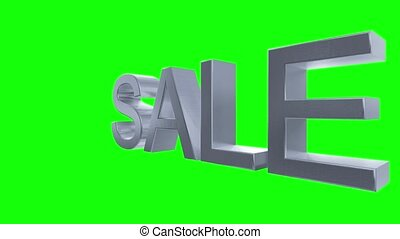 Sale text rotate shopping commerce retail sales loop 4k