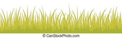 Grass line seamless isolated on white background use for web site design, decoration and other. Vector Illustration