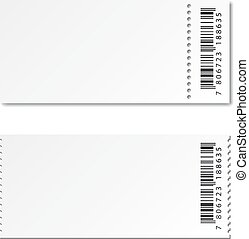 blank white paper ticket - illustration for the web