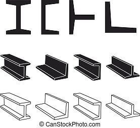 steel metallurgy beam profile symbol - illustration for the...