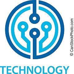 electronic circuit board technology symbol - illustration...