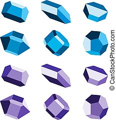 mineral crystal stone blue magenta - illustration for the...