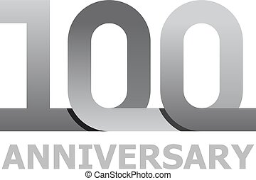 100 years anniversary number - illustration for the web
