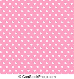 Heart seamless pattern on pink background for Valentines day, Happy Birthday and other holidays. Decoration element. Vector Illustration