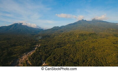 Mountains with tropical forest. Camiguin island Philippines....