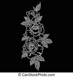 Vector abstract flowers