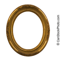 Round frame with clipping path