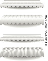 white striped awnings