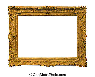 Antique picture frame with clipping path
