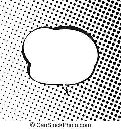 Speech Bubble on Halftone Background - Retro Style Speech...