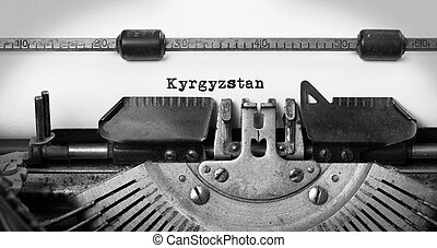 Old typewriter - Kyrgyzstan - Inscription made by vinrage...