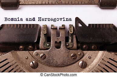 Old typewriter - Bosnia and Herzegovina - Inscription made...