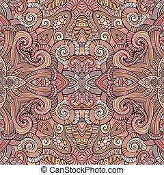 Abstract vector decorative ethnic hand drawn sketchy contour...