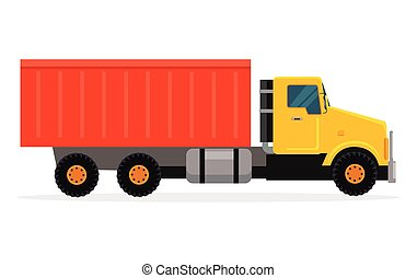 Delivery Tipper Truck Transportation. Vector Cargo -...