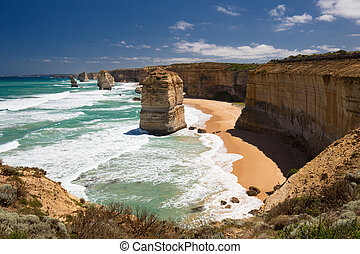 12 Apostles - The world famous 12 Apostles along the Great...