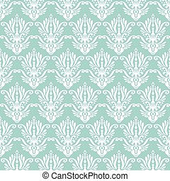 damask pattern seamless - Blue and white damask pattern....